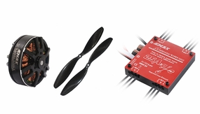 EMAX Quadcopter 650mm Combo 1 (4x MT3506-650kv + 4x 25A Multirotor 4 in 1 ESC + 2 pair x 1147 CW,CCW Prop)