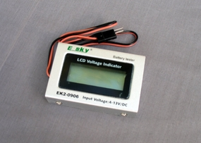 Esky LCD Battery Tester w/ LCD Voltage Indicator (4-13V/DV) EK2-0906_EskyBatteryTester