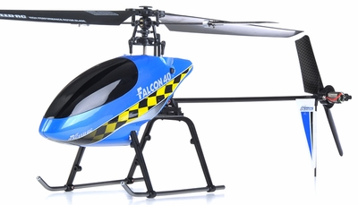 Exceed RC 2.4Ghz Falcon 40 V2 4-Channel RC Helicopter RTF Fixed Pitch - 100% Ready-to-Fly w/ Lipo Battery & LCD Transmitter Monitor (Blue) ExceedHeli_Falcon40_Blue