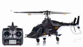 Exceed RC 2.4Ghz MadHawk 300 4-Channel RC Helicopter RTF Fixed Pitch - 100% Ready-to-Fly Fully Loaded w/ LCD Remote Control (Black AirWolf)