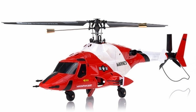 Exceed RC 4-CH MadHawk 300 RC Helicopter w/ 2.4G 2402D Devo LCD Transmitter (Red RTF)