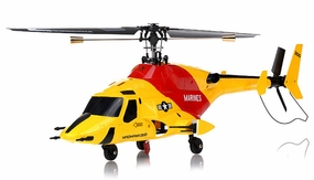 Exceed RC 4-CH MadHawk 300 RC Helicopter w/ 2.4G 2402D Devo LCD Transmitter (Yellow RTF)