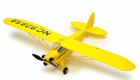 Exceed RC 4 Channel J3 Piper Cub Ready to Fly Super Scale Airplane RTF w/ Brushless Motor/ESC/Lipo (Yellow) RC Remote Control Radio