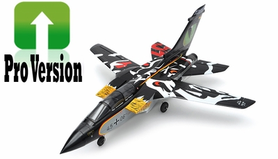 Exceed RC 5 Channel PRO Version 2.4G ARF Almost Ready to Fly 64MM F3 Tornado EDF Jet w/ Sweepback Wings (Black) RC Remote Control Radio