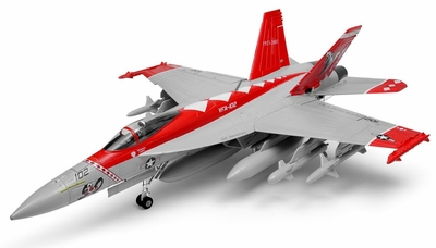 Exceed RC 9-CH 90MM F-18 Red Viper Extreme Scale Jet w/Brushless Motor/ESC ARF + 3D Thrust Vector RC Remote Control Radio