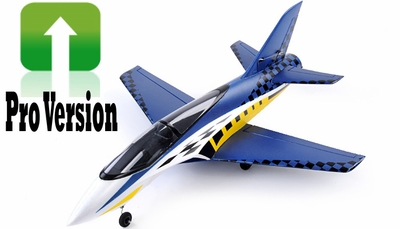 Exceed RC Concept X PRO Version 64mm Super Performance Brushless Ducted Fan RC Jet ARF Receiver Ready (Blue) RC Remote Control Radio
