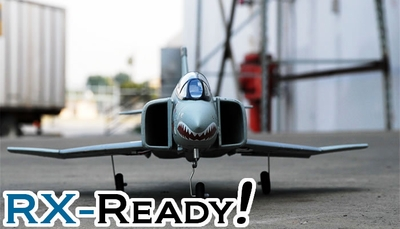 Exceed RC F-4E Phantom ARF 64mm Electric Ducted Fan RC Jet Shark Version (without Transmitter & Receiver) RC Remote Control Radio