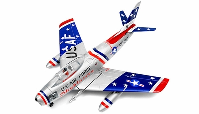 Exceed RC F-86 2.4Ghz 6 Channel Electric Remote Control 90MM High Performance EDF  Electric Ducted Fan Airplane ARF RC Remote Control Radio