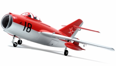 Exceed RC Mig-15 70MM Electric Ducted Fan Remote Control ARF Receiver-Ready w/ Metal Electric Landing Gear (Red) RC Remote Control Radio