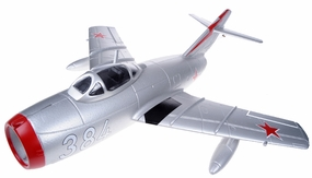 Exceed RC Mini 50MM MIG-15 High Performance Ducted Fan Jet Receiver-Ready w/ Brushless Motor/ESC (Silver ARF) RC Remote Control Radio
