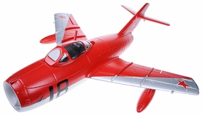 Exceed RC Mini 50MM MIG-15 High Performance Ducted Fan RC Jet Receiver-Ready w/ Brushless Motor/ESC (Red ARF) RC Remote Control Radio