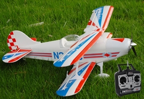 Exceed-RC Pitts S2A 4CH RC Remote Control Biplane Airplane RTF W/ Remote Control, Lipo Battery & Brushless Motor Upgrade
