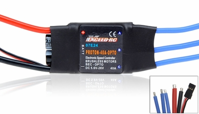 Exceed RC Proton/Volcano 40A OPTO Brushless Speed Controller ESC (W/O BEC)