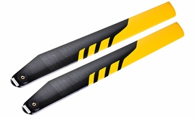 EXI-450 Carbon Fibre Main Blade for Electric 450-class RC Helicopter (325mm-Yellow) EXI-Pro-3251-Yellow