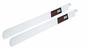 EXI-500 Carbon Fibre Main Blade for Electric 500-Class RC Helicopter (430mm-White) EXI-Pro-4301-White