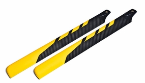 EXI-500 Carbon Fibre Main Blade for Electric 500 RC Helicopter (430mm-Yellow) EXI-Pro-4301-Yellow