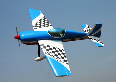 "EXTRA 260 50 - 53.5"" 3D Aerobatic Nitro Gas Powered  led RC Plane ARF RC Remote Control Radio"