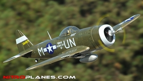Extreme Detail 5-CH Version 2 ARF AirField RC P-47 1400MM Warbird Plane w/ Brushless Motor/ESC *Super Scale* EPO Foam Plane + Electric Retracts Almost Ready to Fly(Green) RC Remote Control Radio