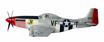 Extreme Detail 6-Channel P-51 Mustang 1400mm RC Warbird Plane Kit