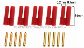 five pairs of 4.0 banana plug withprotect pipe 34MM 79P-10225