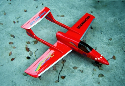 "Formost 550 - 39"" 4-CH Electric RC Airplane ARF Fiberglass Kit (Pusher Jet)"