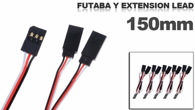 Futaba Y extension lead 150mm (5 pcs) 79P-10094