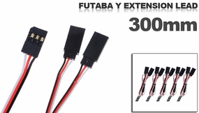 Futaba Y extension lead 300mm (5 pcs) 79P-10097