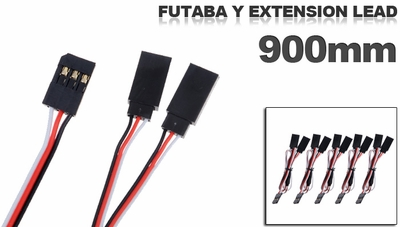 Futaba Y extension lead 900mm (5 pcs) 79P-10103