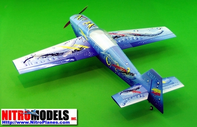 Giles 202 - 50 - 1400mm Nitro Gas Radio Remote Controlled RC Airplane Aerobatic Aircraft CMP-Gas-Giles50