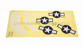 Green Decal for AirField RC P47 750mm 93A847-15-Green-Sticker