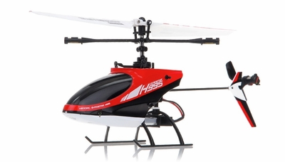 Hero RC  4CH Mini RC Helicopter H995 hot selling 2.4GHz Single-Propeller with Gyro  (Red) RC Remote Control Radio