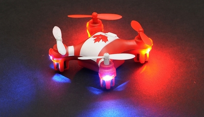 Hero RC Mini World Canada Micro 2.4ghz 4CH 6 Axis Gyro LED Quad Copter Ready to Fly w/ Headless Mode RC Remote Control Radio