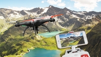 Hero RC SYMA Super X5HW WiFi FPV 3MP HD Camera 2.4G 4 Channel 6-axis Gyro RC Drone Quadcopter RTF w/ Live Video +Altitude Hold Function +360-degree 3D Rolling Mode +3 Batteries +Extra Set Blades +Extra Charger