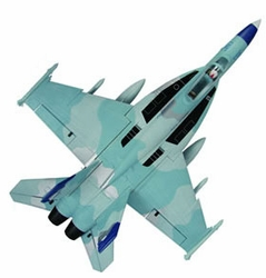 High Performance MaxJet 4-CH F-18E Sky Camo RC Fighter Jet w/ 64MM EDF Fan /Brushless Motor/ESC(ARF Version) RC Remote Control Radio