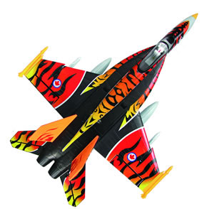 High Performance MaxJet 4-CH F-18E Tiger RC Fighter Jet w/ 64MM EDF Fan /Brushless Motor/ESC(ARF Version) RC Remote Control Radio