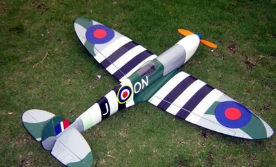 "Highest Quality NitroModel! SpitFire 40 - 41"" Nitro Gas Gas/Electric Radio Remote Control RC Plane Almost-Ready-to-Fly 12A41_Spitfire"