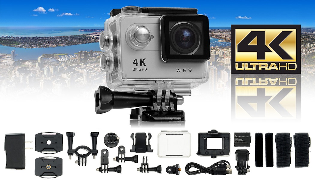 hobbypartz ultra hd 4k sport action camera wifi 1080p hd hdmi 12mp 170 degree wide angle. Black Bedroom Furniture Sets. Home Design Ideas