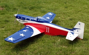 Hot Miss America P-51 Mustang 60 Nitro Gas ARF Radio Remote Control RC Warbird Airplane w/ Retractable Landing Gear