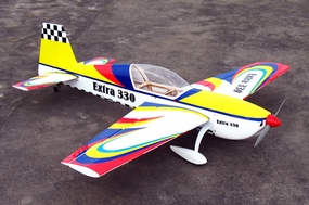 "Latest NitroModels 3D Extra 330L 90 - 63"" Acrobatic Nitro Gas  led RC Airplane ARF RC Remote Control Radio"