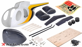 MD530 500 Glass Fiber Pre-Painted Fuselage Yellow/Blue/White 67P-500-MD530-5-2-YellowBlueWhite