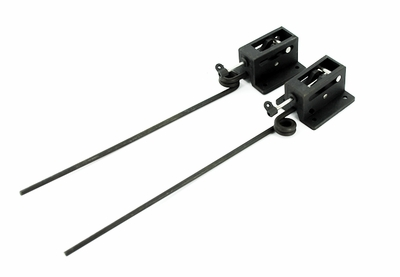 "Mechanical Retract 1 pair 4×L210mm 90 Deg. Mains with 1/8"" wire strut"