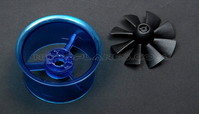 Micro 45mm EDF,including the unique 8-blade fan rotor and ducted housing