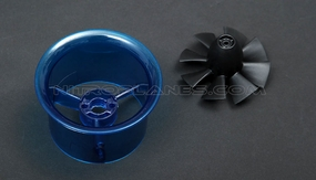 Micro 50mm EDF,including the unique 8-blade fan rotor  and ducted housing