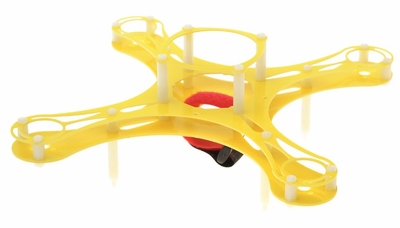 Mini Fly QuadCopter KIT Airframe (Yellow) RC Remote Control Radio
