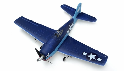 New 2.4Ghz AirField 4 channel Mini EPO F6F Hellcat  RTF Ready to Fly version 800 Series Brushless Motor/Lipo RC Remote Control Radio