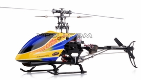 New!! 2.4Ghz Dynam E-Razor 250 Pro Ready-to-Fly w/ CNC Upgraded Rotor Head, Brushless Motor+ESC, LiPo Battery (Blue) RC Remote Control Radio