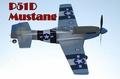 New 4 CH P51D MUSTANG Radio Remote Control Electric RC Warbird Airplane RTF (Silver)