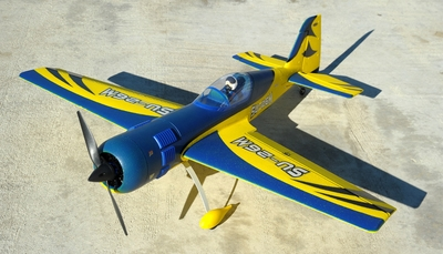 "New 4 Channel Dynam SU-26M Brushless Sports RC Plane 47"" ARF w/ Motor + ESC + Servos (Blue) RC Remote Control Radio"
