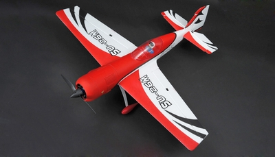 "New 4 Channel Dynam SU-26M Brushless Sports RC Plane 47"" ARF w/ Motor + ESC + Servos (Red) RC Remote Control Radio"