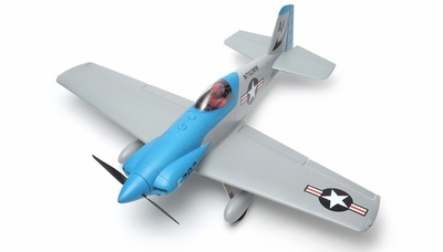 "AeroSky RC RC 5 Channel Midget Mustang 55"" Scale Remote Control Plane ARF (Blue) RC Remote Control Radio"